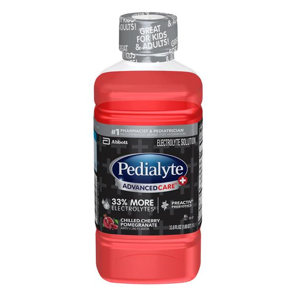 Pedialyte AdvancedCare Plus Electrolyte Solution Chilled Cherry Pomegranate Ready-to-Drink