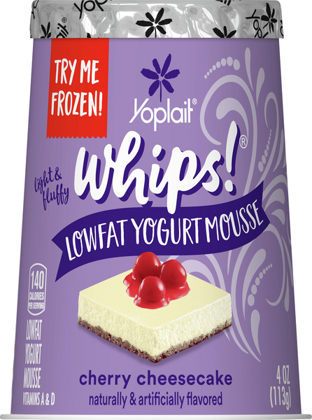 Yoplait Whips! Cherry Cheesecake Flavored Lowfat Yogurt Mousse