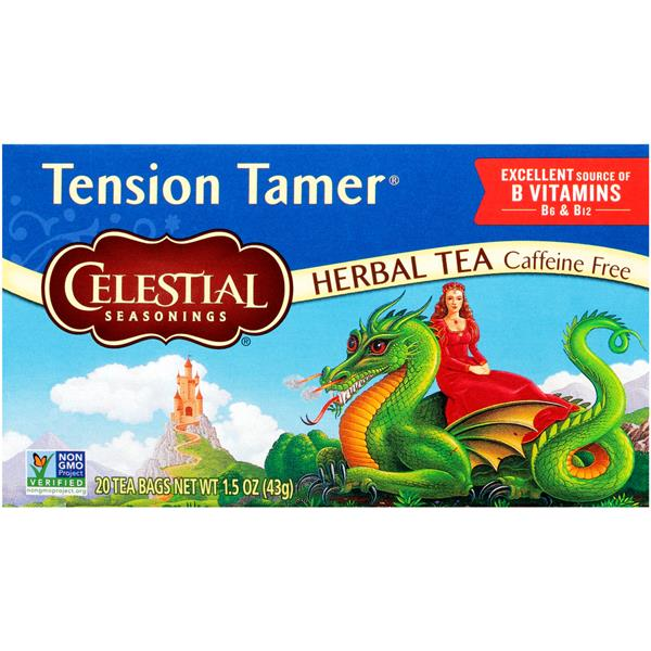 Celestial Seasonings Caffeine Free Tension Tamer Herbal Tea Bags 20 Count