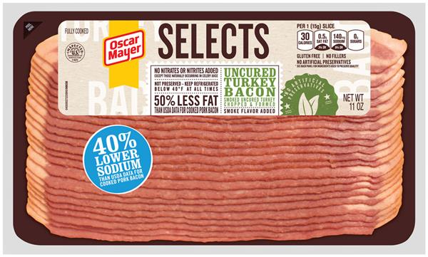 Oscar Mayer Selects Turkey Bacon on oscar mayer selects turkey nutrition