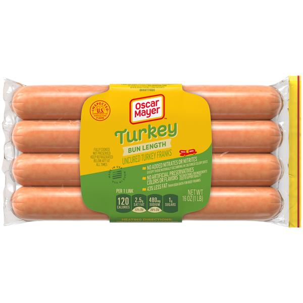 Oscar Mayer Bun-Length Turkey Franks 8Ct