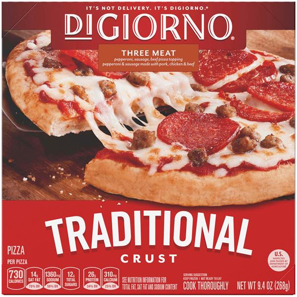 DiGiorno Traditional Crust Three Meat Small Pizza