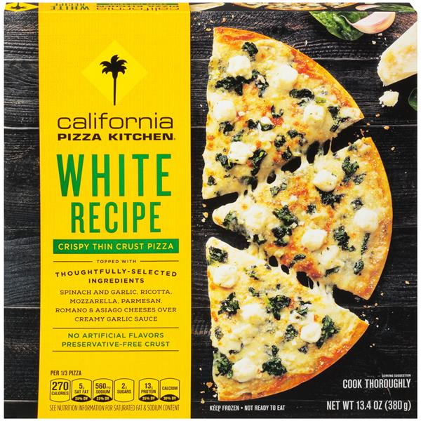 California Pizza Kitchen White Pizza Ingredients