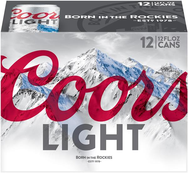 Coors Light Beer 12 Pack Hy Vee Aisles Online Grocery