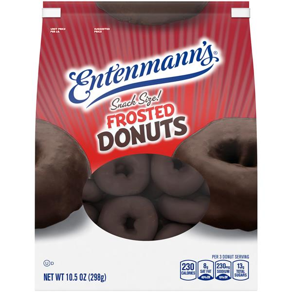 Entenmann's Snack Size! Frosted Donuts Chocolate