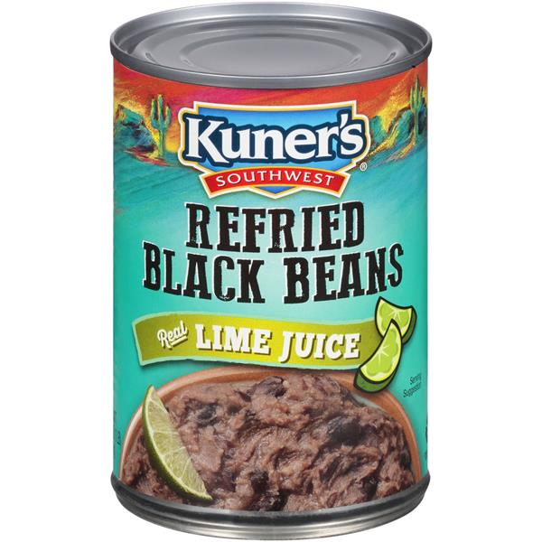 Kuner's Southwest Refried Black Beans with Lime Juice
