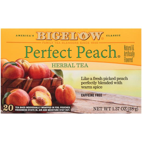 Bigelow Perfect Peach Herbal Tea 20Ct Bags