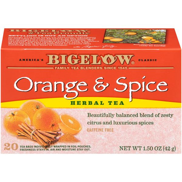 Bigelow Orange & Spice Herbal Tea 20Ct Bags