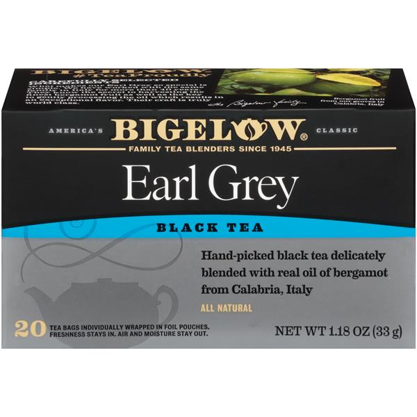 Bigelow Earl Grey Black Tea Blend 20 Count