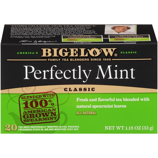 Bigelow Plantation Mint Black Tea Blend 20 Count