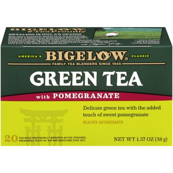 Bigelow Green Tea with Pomegranate 20Ct Bags