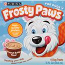 Purina FROSTY PAWS Peanut Butter Flavor Frozen Dog Treats, 4 Cups per Box, 13 fl. oz. | Ready to eat treat