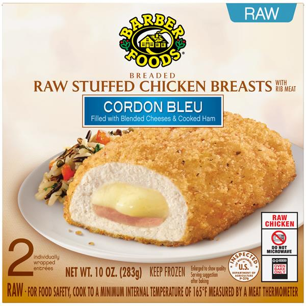 Barber Foods The Original Breaded Raw Stuffed Chicken ...