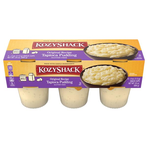 Kozy Shack Original Recipe Tapioca Pudding 6 Count