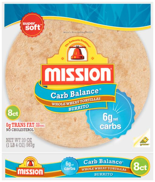 Mission Carb Balance Burrito Whole Wheat Tortillas 8 ct ...