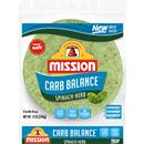 Mission Carb Balance Spinach Herb Tortilla Wraps 8Ct