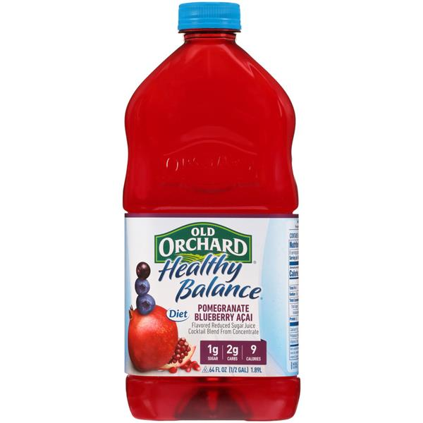 Old Orchard Healthy Balance Diet Pomegranate Blueberry Acai Juice Cocktail