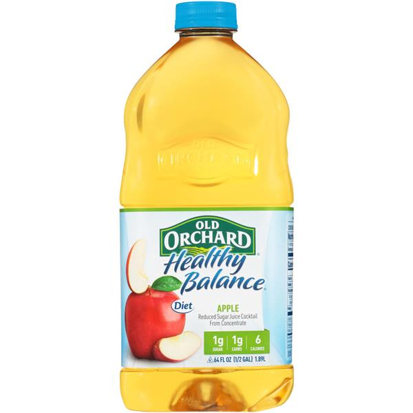 Old Orchard Healthy Balance Diet Apple Juice Cocktail