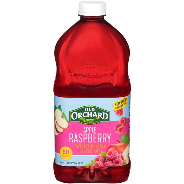 Old Orchard Apple Raspberry Juice Cocktail