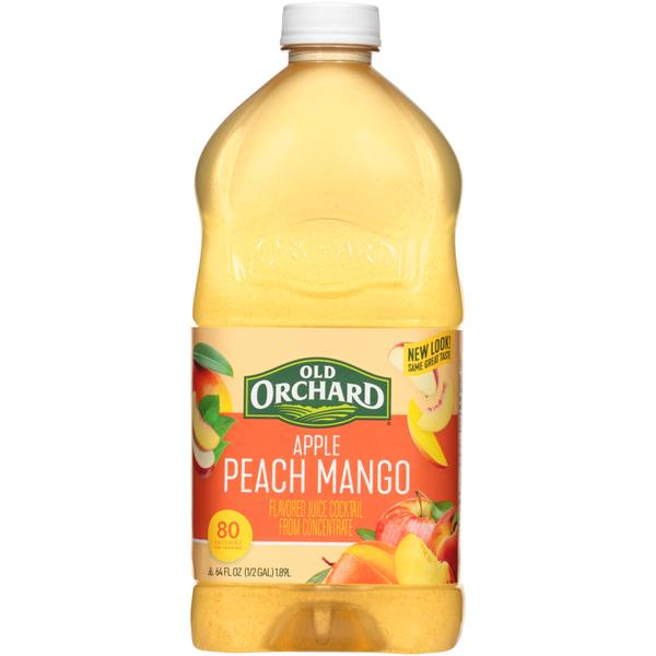 Old Orchard Apple Passion Mango Juice Cocktail
