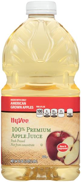 Hy-Vee Premium 100% Apple Juice