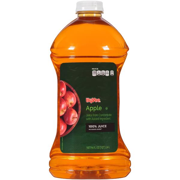 Hy-Vee No Sugar Added 100% Apple Juice