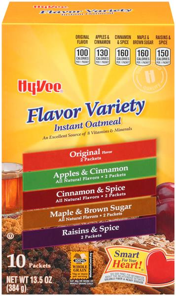 Hy-Vee Flavor Variety Instant Oatmeal, 10 Ct