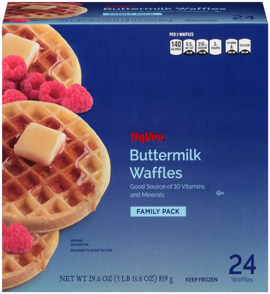 Hy-Vee Buttermilk Waffles 24Ct