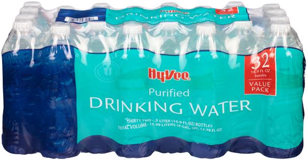 Hy-Vee Purified Drinking Water 32 Pack