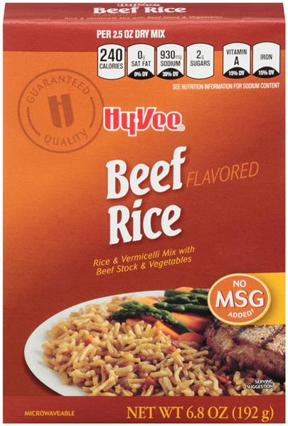 Hy-Vee Beef Flavored Rice