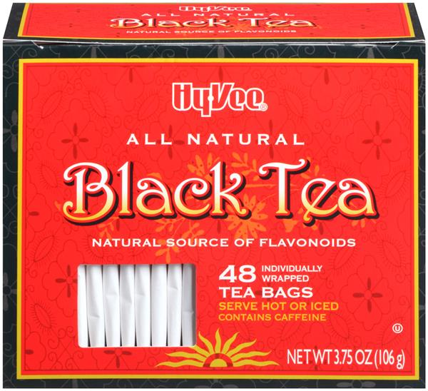 Hy-Vee Black Tea Bags 48 Count