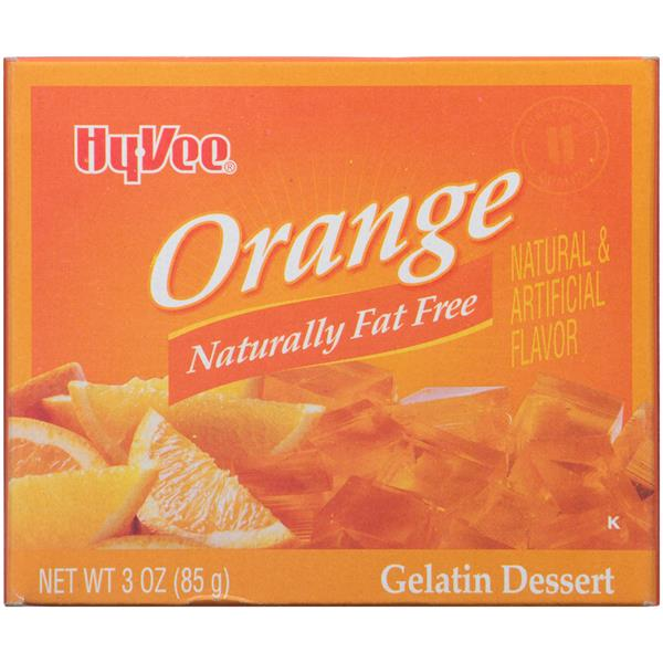 Hy-Vee Orange Gelatin Dessert