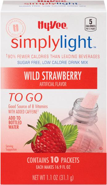 Hy-Vee Simply Light to Go Wild Strawberry Drink Mix 10Ct