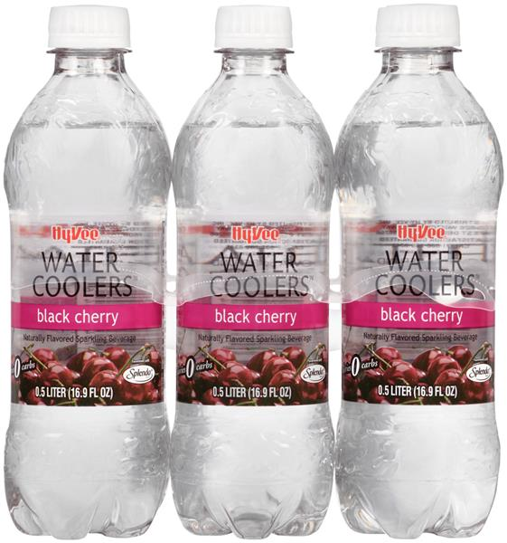 Hy-Vee Water Coolers Black Cherry 6 Pack