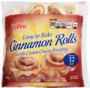 Hy-Vee Easy to Bake Cinnamon Rolls with Cream Cheese Frosting 12Ct