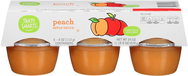 That's Smart! Peach Applesauce 6-4 oz Containers