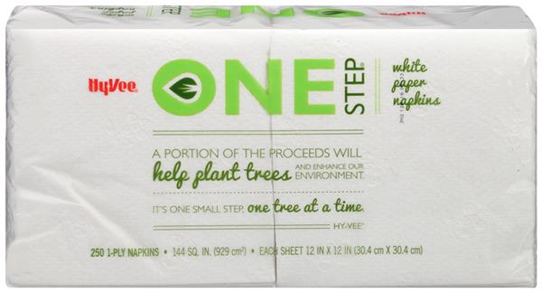 Hy-Vee One Step White Paper Napkins