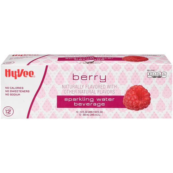 Hy-Vee Berry Flavored Sparkling Water 12Pk