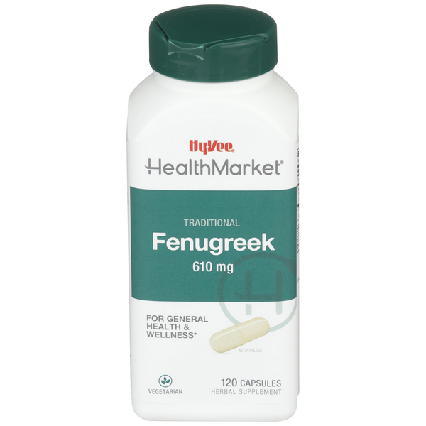 Hy-Vee Health Market Traditional Fenugreek 610mg Capsules