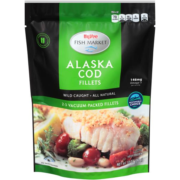 Hy vee fish market cod fillets hy vee aisles online for Cod fish nutrition