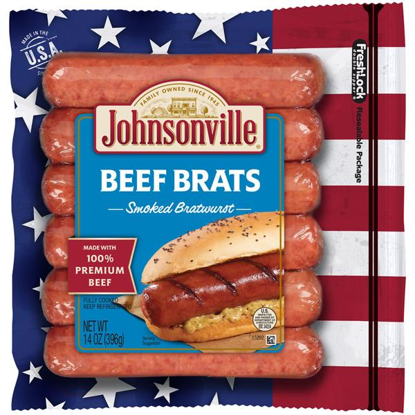 Johnsonville Smoked Beef Brats 6Ct