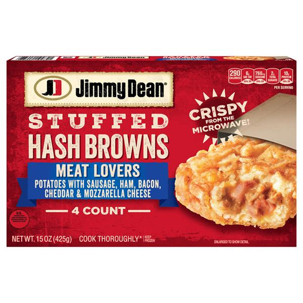 Jimmy Dean Meat Lovers Stuffed Hash Browns 4Ct