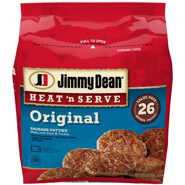 Jimmy Dean Heat &#39n Serve Original Sausage Patties