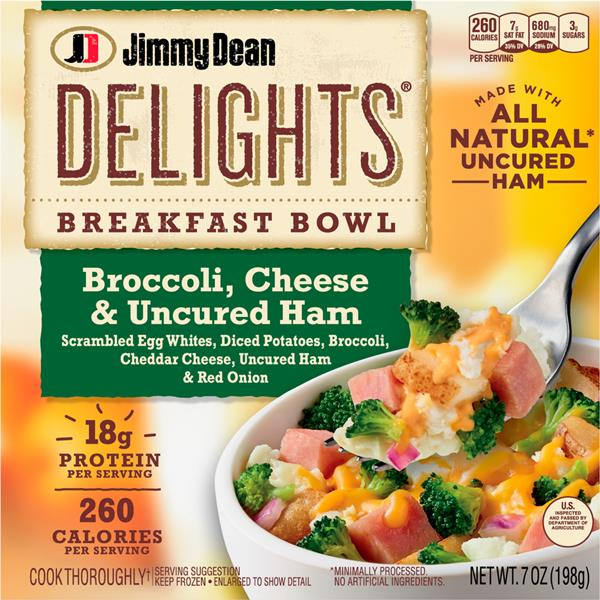 Jimmy Dean Delights Breakfast Bowl Broccoli, Cheese & Ham