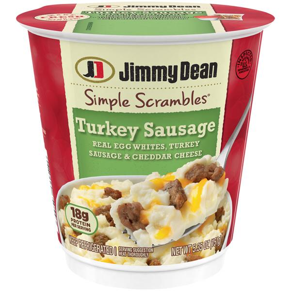 Jimmy Dean Turkey Sausage Simple Scramble