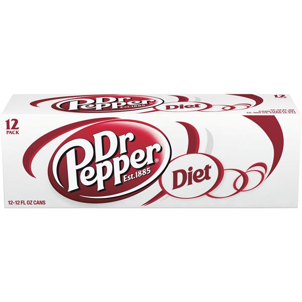Dr Pepper Diet Soda 12 Pack