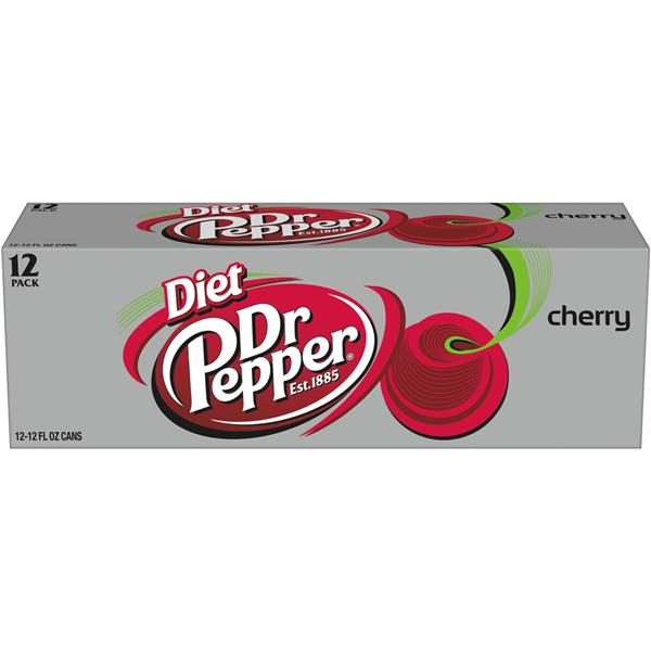 Diet Dr Pepper Cherry Soda 12 Pack