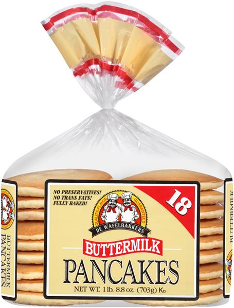 De Wafelbakkers Pancakes Buttermilk 18 Count