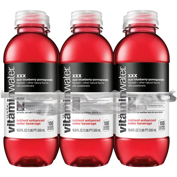 Glaceau Vitaminwater XXX Acai-Blueberry-Pomegranate 6Pk