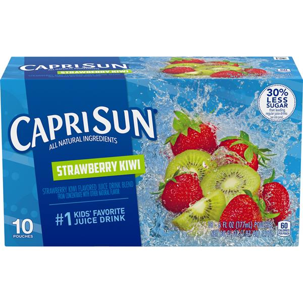 Capri Sun Strawberry Kiwi Fruit Flavored Juice Drink 10-6 fl oz Pouches
